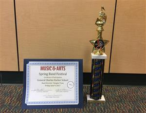 Music & Arts Trophy & Certificate